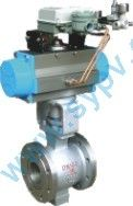 Pneumatic V-Shaped ball valve