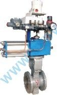 Pneumatic V-Shaped control valve