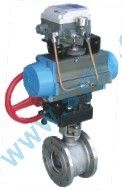 Pneumatic V-Shaped wafer control valve